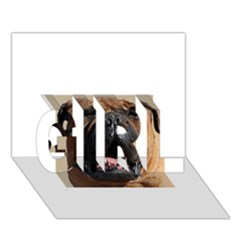 Bullmastiff GIRL 3D Greeting Card (7x5)