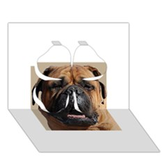 Bullmastiff Clover 3D Greeting Card (7x5)