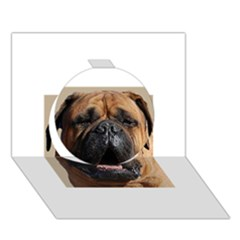Bullmastiff Circle 3D Greeting Card (7x5)