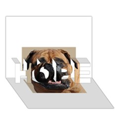 Bullmastiff HOPE 3D Greeting Card (7x5)