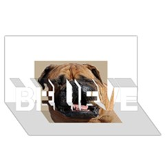 Bullmastiff BELIEVE 3D Greeting Card (8x4)