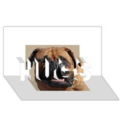 Bullmastiff HUGS 3D Greeting Card (8x4)
