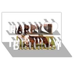 Cardigan Welsh Corgi Full Happy Birthday 3D Greeting Card (8x4)