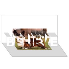 Cardigan Welsh Corgi Full BELIEVE 3D Greeting Card (8x4)