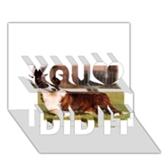 Cardigan Welsh Corgi Full You Did It 3D Greeting Card (7x5)