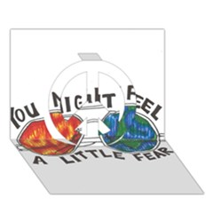 Little Fear Peace Sign 3d Greeting Card (7x5)