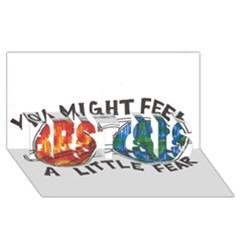 Little fear BEST SIS 3D Greeting Card (8x4)