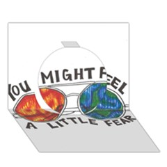 Little fear Circle 3D Greeting Card (7x5)