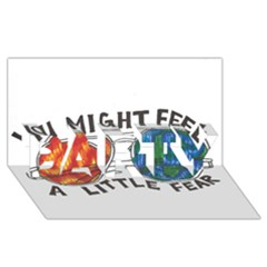 Little Fear Party 3d Greeting Card (8x4)
