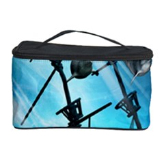 Awesome Ship Wreck With Dolphin And Light Effects Cosmetic Storage Cases