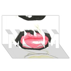 Troislips0002 MOM 3D Greeting Card (8x4)