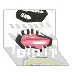 Troislips0002 You Did It 3D Greeting Card (7x5)