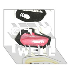 Troislips0002 Get Well 3d Greeting Card (7x5)