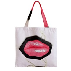 Troislips0002 Grocery Tote Bags