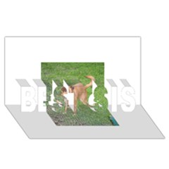 Carolina Dog Full 2 Best Sis 3d Greeting Card (8x4)