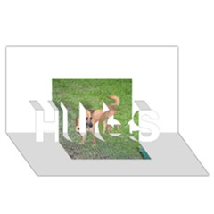 Carolina Dog Full 2 Hugs 3d Greeting Card (8x4)
