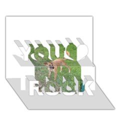 Carolina Dog Full 2 You Rock 3D Greeting Card (7x5)