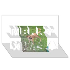 Carolina Dog Full 2 Merry Xmas 3D Greeting Card (8x4)