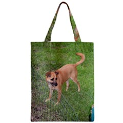 Carolina Dog Full 2 Zipper Classic Tote Bags