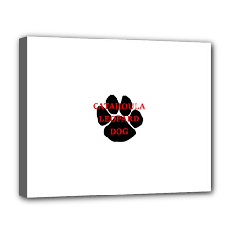 Catahoula Name Paw Deluxe Canvas 20  x 16