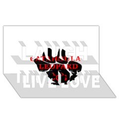 Catahoula Name Paw Laugh Live Love 3D Greeting Card (8x4)