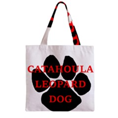 Catahoula Name Paw Zipper Grocery Tote Bags