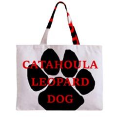 Catahoula Name Paw Zipper Tiny Tote Bags