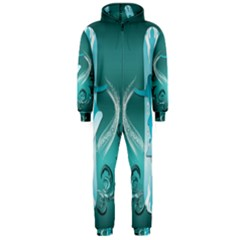 Snowboarder With Snowboard Hooded Jumpsuit (Men)