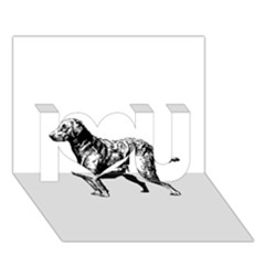 Chesapeake Bay Retriever Drawing I Love You 3D Greeting Card (7x5)