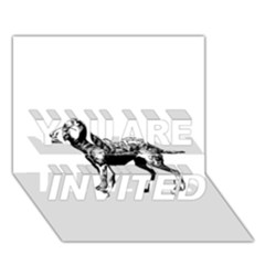 Chesapeake Bay Retriever Drawing YOU ARE INVITED 3D Greeting Card (7x5)