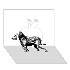 Chesapeake Bay Retriever Drawing Apple 3D Greeting Card (7x5)