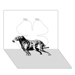 Chesapeake Bay Retriever Drawing Clover 3D Greeting Card (7x5)