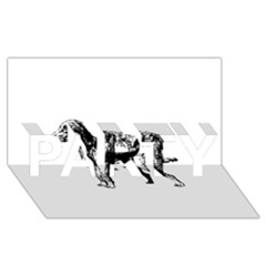 Chesapeake Bay Retriever Drawing PARTY 3D Greeting Card (8x4)