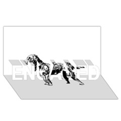 Chesapeake Bay Retriever Drawing ENGAGED 3D Greeting Card (8x4)