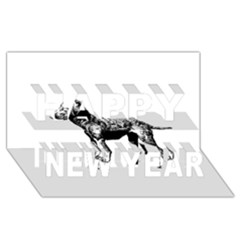 Chesapeake Bay Retriever Drawing Happy New Year 3D Greeting Card (8x4)