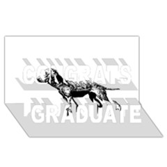 Chesapeake Bay Retriever Drawing Congrats Graduate 3D Greeting Card (8x4)