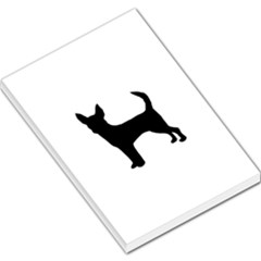 Chihuahua Silhouette Large Memo Pads