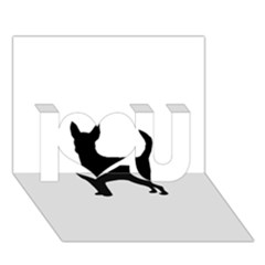 Chihuahua Silhouette I Love You 3D Greeting Card (7x5)