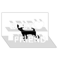 Chihuahua Silhouette Best Friends 3D Greeting Card (8x4)