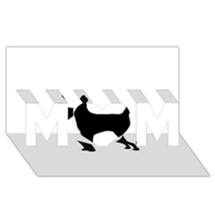 Chihuahua Silhouette MOM 3D Greeting Card (8x4)