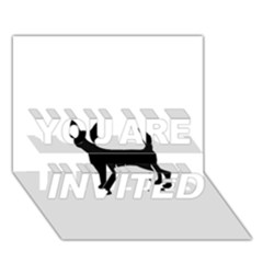 Chihuahua Silhouette YOU ARE INVITED 3D Greeting Card (7x5)