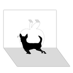 Chihuahua Silhouette Apple 3D Greeting Card (7x5)