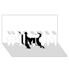 Chihuahua Silhouette #1 MOM 3D Greeting Cards (8x4)