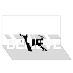 Chihuahua Silhouette BELIEVE 3D Greeting Card (8x4)