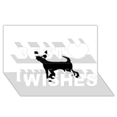 Chihuahua Silhouette Best Wish 3D Greeting Card (8x4)