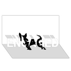 Chihuahua Silhouette ENGAGED 3D Greeting Card (8x4)