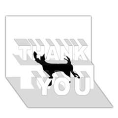 Chihuahua Silhouette THANK YOU 3D Greeting Card (7x5)