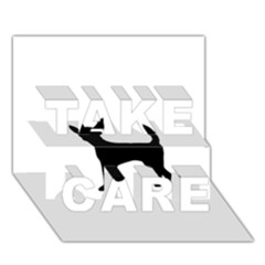 Chihuahua Silhouette TAKE CARE 3D Greeting Card (7x5)