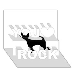 Chihuahua Silhouette You Rock 3D Greeting Card (7x5)