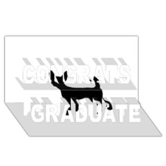 Chihuahua Silhouette Congrats Graduate 3D Greeting Card (8x4)